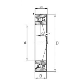 FAG HS71922-C-T-P4S angular contact ball bearings